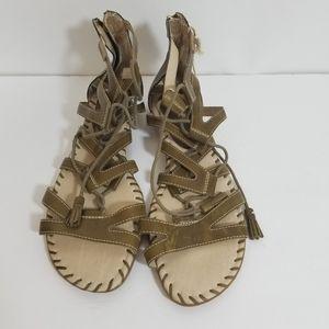 Pikolinos Alcudia Green Gladiator Sandals 12 NWT